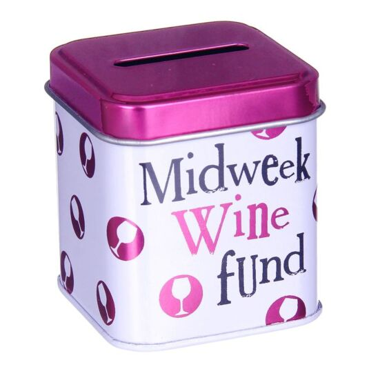 Midweek Wine Fund Cash Stash Tin