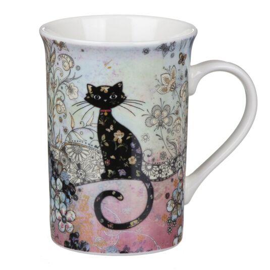 Bug Art Cat Fine China Mug