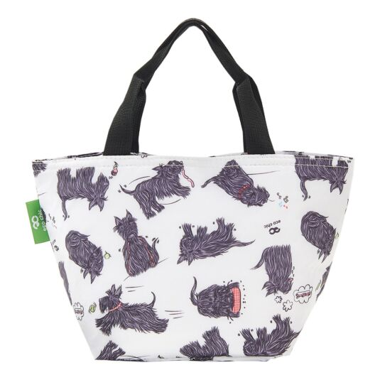 White Scatty Scotty Dogs Insulated Lunch Bag
