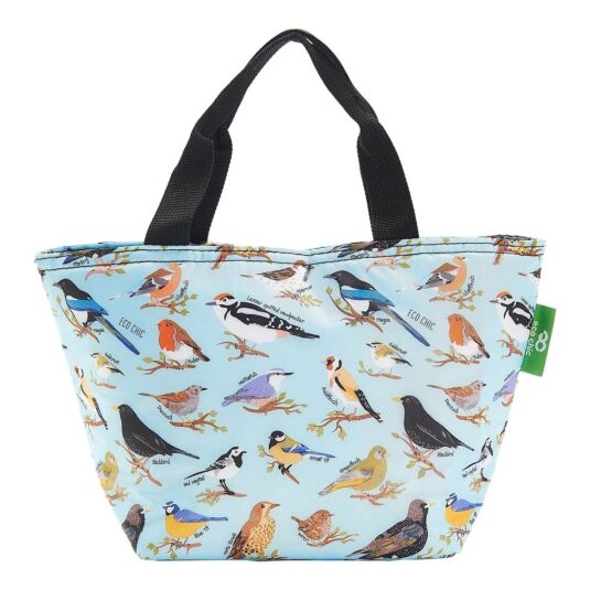 Blue Wild Birds Insulated Lunch Bag