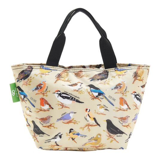 Green Wild Birds Insulated Lunch Bag