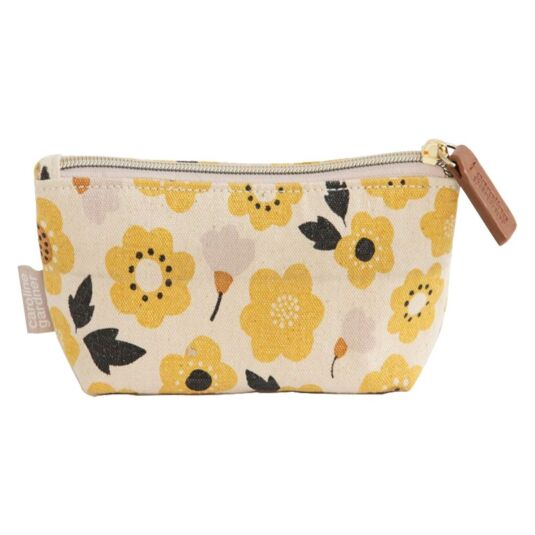 Cotton Floral Printed Handbag Makeup Bag