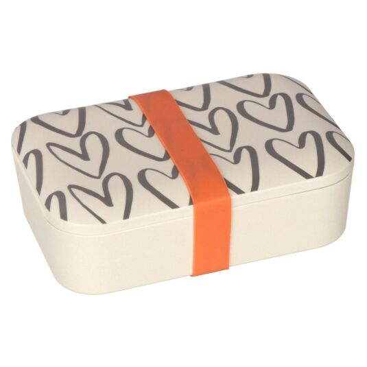 Hearts Outline Bamboo Lunch Box
