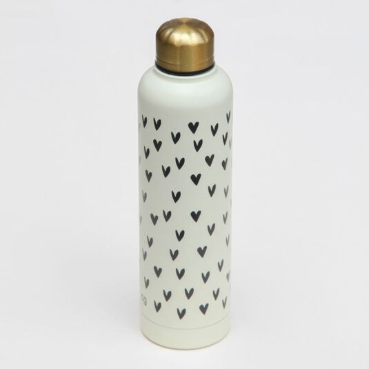 Hearts Metal Water Bottle