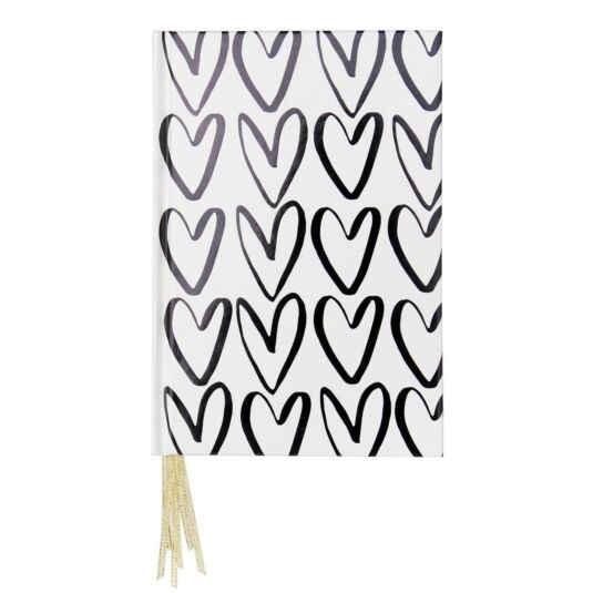 Hearts Outline Multi Ribbon Notebook
