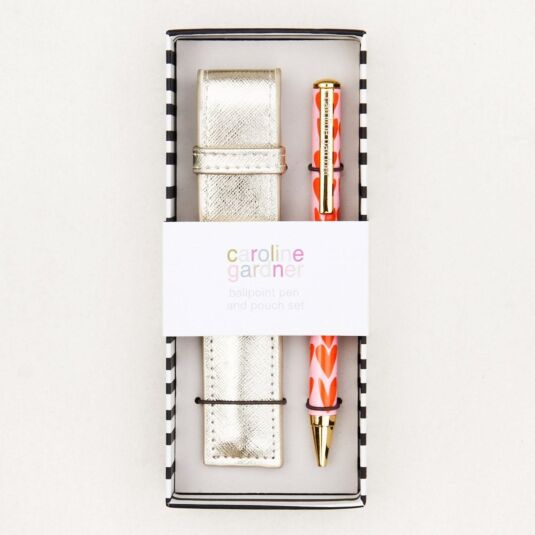 Hearts Boxed Pen in Pouch Gift Set
