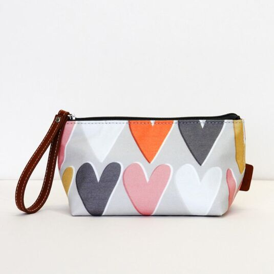 Hearts Wristlet Cosmetic Bag