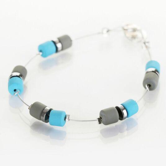 Blue Grey Earthtones Bracelet
