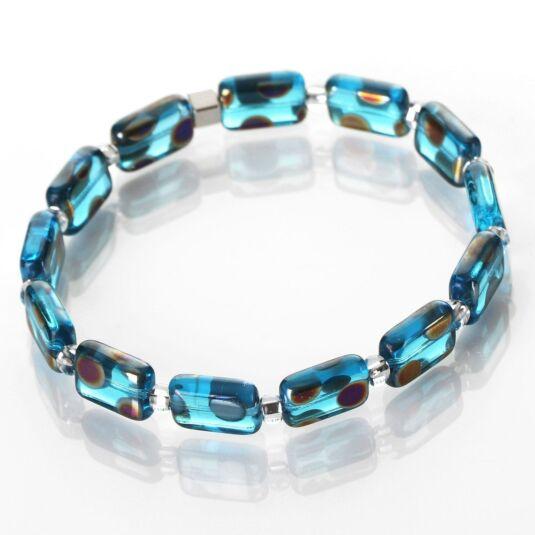 Turquoise Dotty Rectangle Bracelet