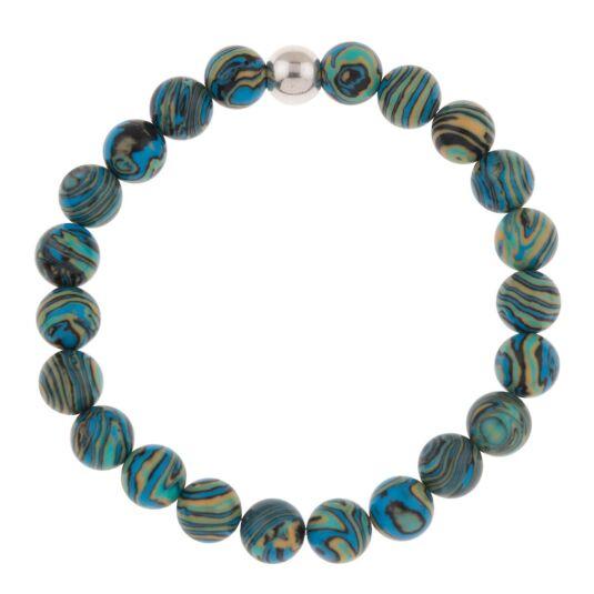 Turquoise Zebra Marbled Bracelet