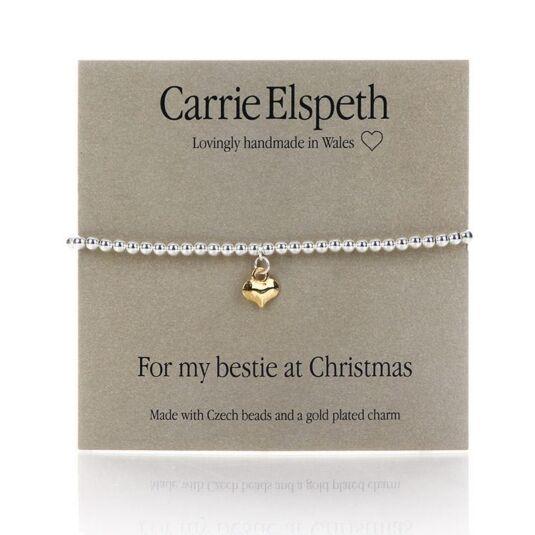 'For my bestie at Christmas' Sentiment Bracelet
