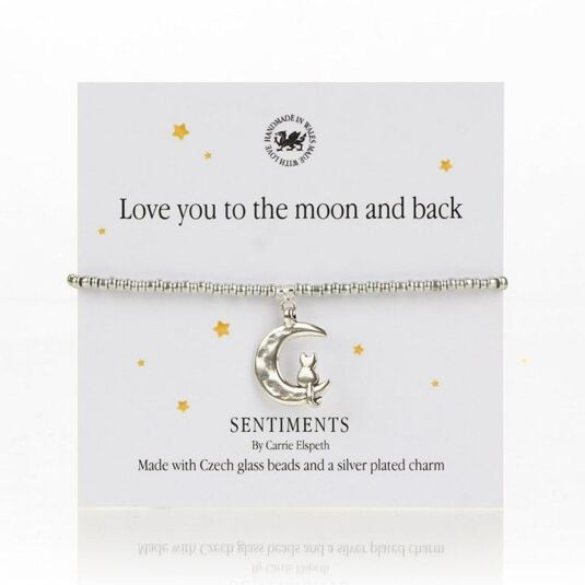 Love you to the Moon and back Sentiments Bracelet