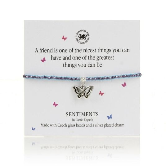 A Friend is one of the nicest things Sentiments Bracelet