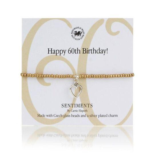 Happy 60th Birthday! Sentiments Bracelet