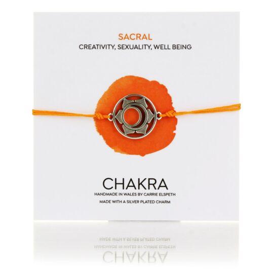 Sacral Chakra Corded Bracelet