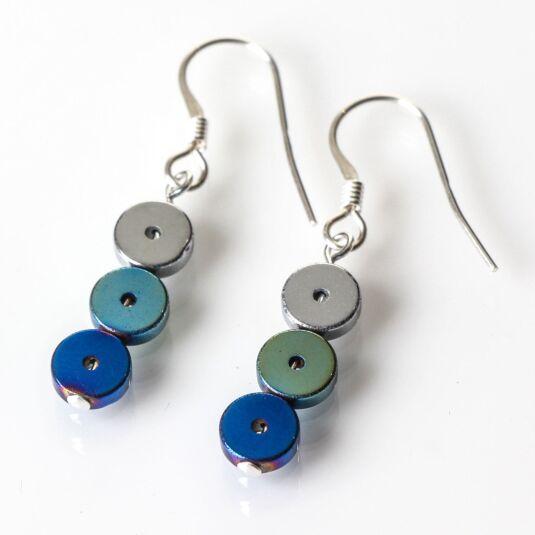 Blue Platters Earrings