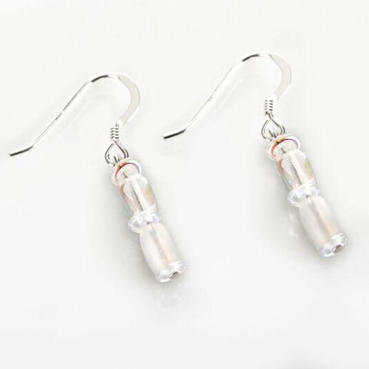 White Bridal Earrings