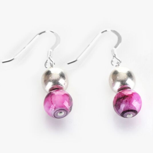 Orchid Marbled Earrings
