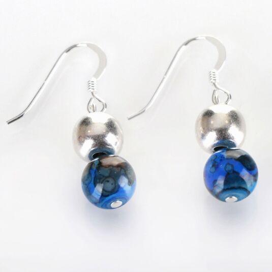Cobalt Marbled Earrings