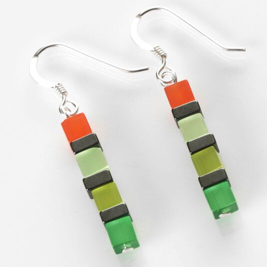 Night-time Cats Eye Multicoloured Earrings