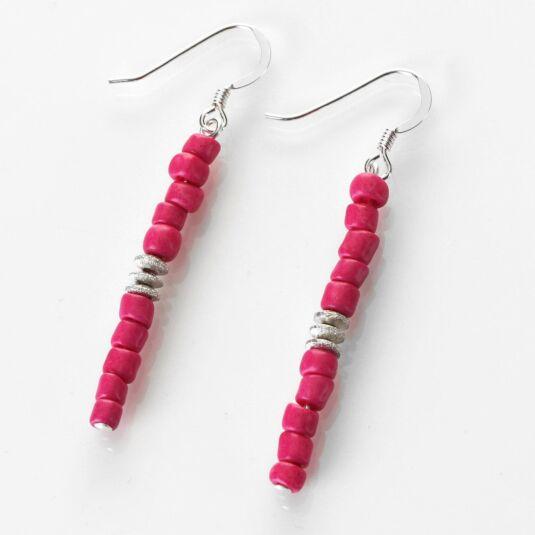 Pink Aztec Earrings