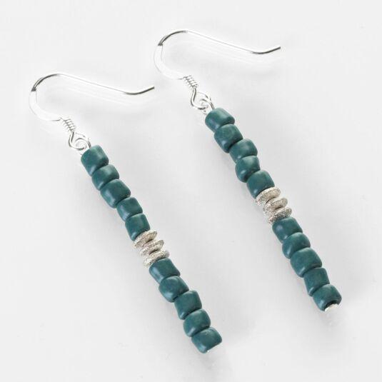 Teal Aztec Earrings