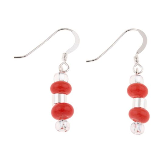 Red Rings & Barrels Earrings