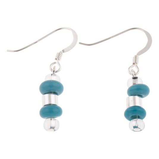 Turquoise Rings & Barrels Earrings