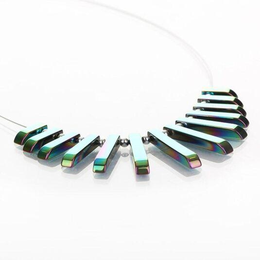 Rainbow  Haematite Collar Necklace