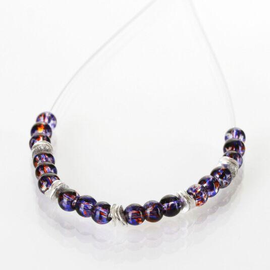 Purple Splashes Necklace