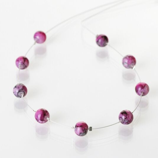 Orchid Marbled Necklace