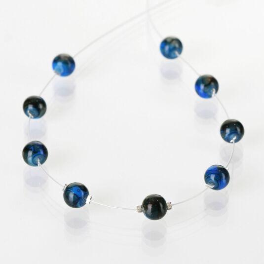 Cobalt Marbled Necklace