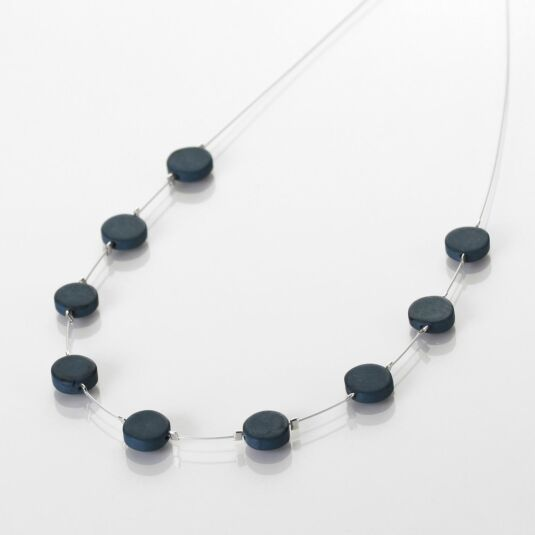 Denim Mosaic Coins Necklace