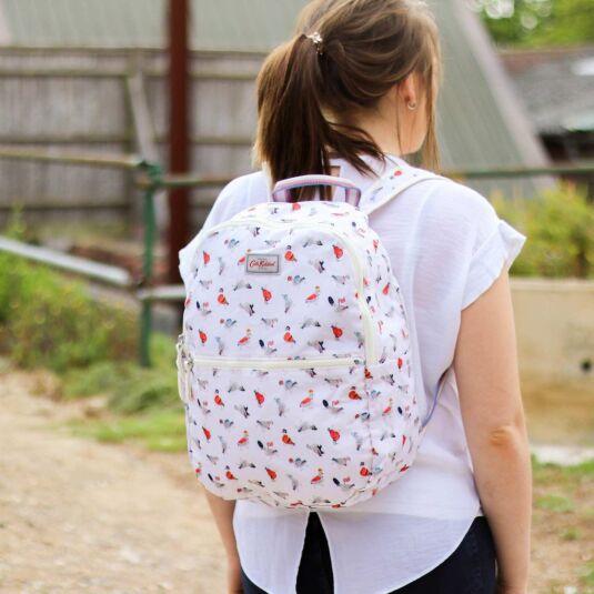 Parading Pigeons Foldaway Backpack