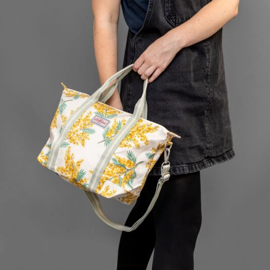 Mimosa Flower Small Overnight Cross Body Bag
