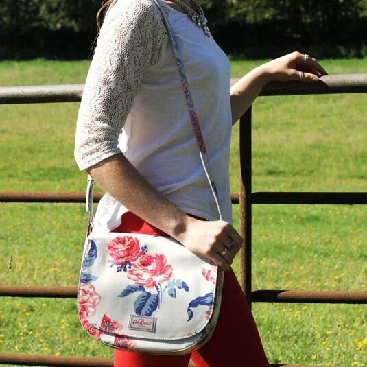 Porchester Rose Large Curved Saddle Bag