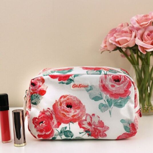 Small Beaumont Rose Classic Box Cosmetic Bag
