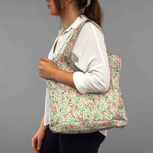 Hedge Rose Foldaway Shopper Bag