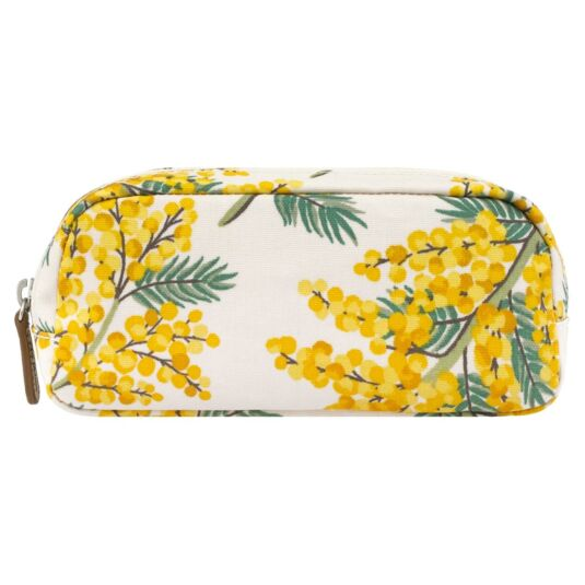 Mimosa Flower Pencil Case With Pocket