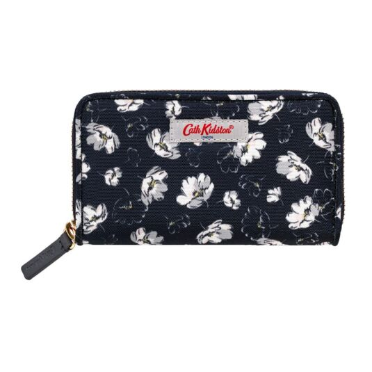 Falling Cosmos Polyester Small Continental Wallet