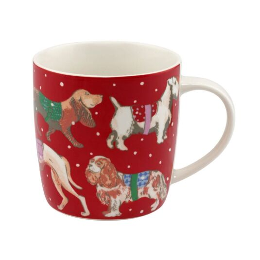Snowy Sketchbook Dogs Audrey Mug