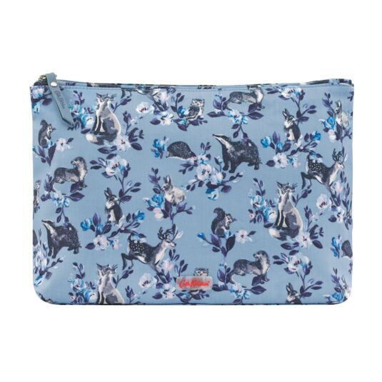 Mini Badgers and Friends Matte Zip Wash Bag
