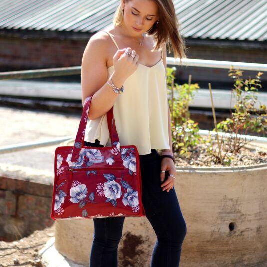 Mid Wild Poppies Large Pandora Bag