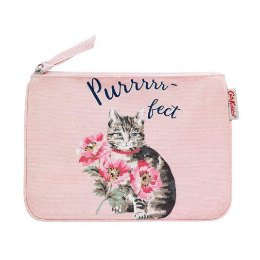 Cat & Flowers Pouch