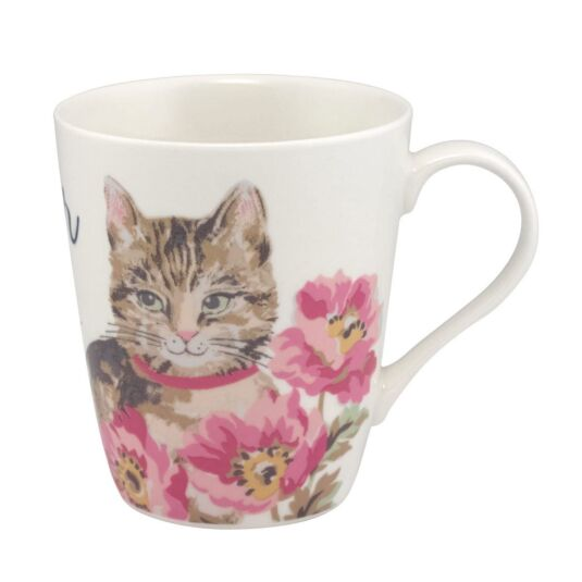 Cat & Flowers Stanley Shaped Mug