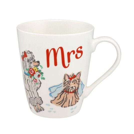 Mr & Mrs Dogs Mrs Stanley Shaped Mug