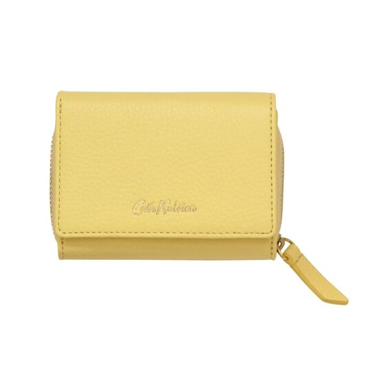 Yellow Leather Small Wallet