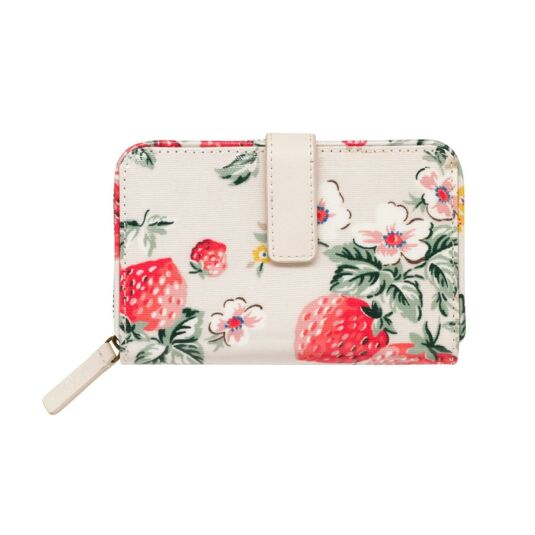 Wild Strawberry Folded Zip Wallet