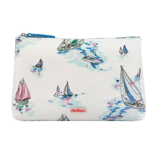 Sailing Ships Matte Zip Cosmetics Bag