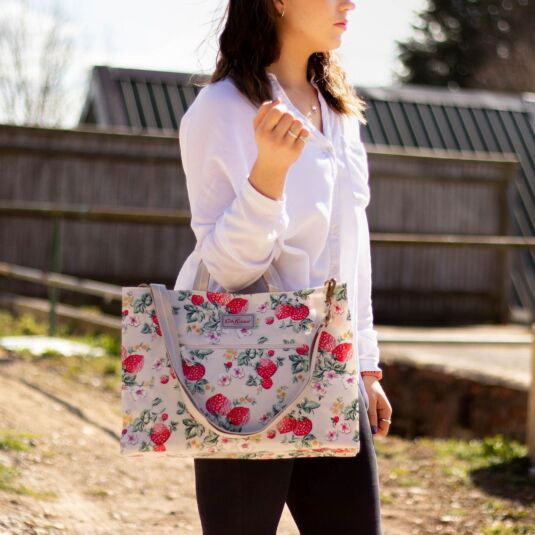 Wild Strawberry Strappy Carryall